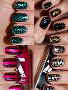 Best Manicure Ideas for Summer 2012 Funky Nails, Love Nails, How To Do Nails, My Nails, Fabulous Nails, Gorgeous Nails, Pretty Nails, Nail Polish Designs, Cute Nail Designs