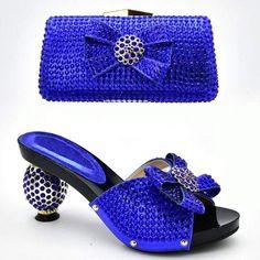 Italian Shoes and Bag Set - Women's Designer Luxury Party Pumps Blue Pumps, Blue Shoes, Women's Shoes, Shoes Style, Casual Shoes, Shoes Sneakers, Dress Shoes, Fabric Handbags, Women's Handbags