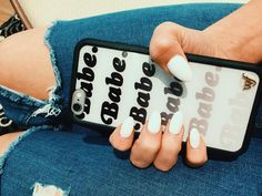 essentials... nails- @modernpampersalon phone case- @wildflowercases jeans- @topshop