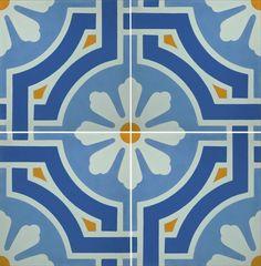 El #blanco combina con todos los #colores, pero con el #azul luce de maravilla. #Ladrillo del día: #Castelo-1026 #mosaicos #tiles #azulejos