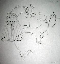 kaart borduren - bruidspaar