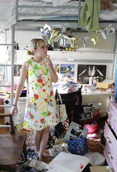 Tavi's messy room. Teehee. I love that dress by the way