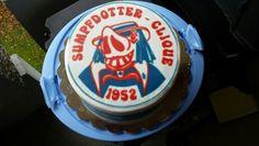 Torte mit aufgedrucktem Logo