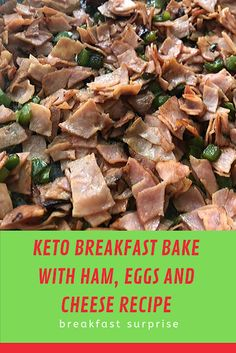 #KETO #BREAKFAST #BAKE #WITH #HAM, #EGGS #AND #CHEESE #RECIPE    On the hunt for a breakfast recipe that you can create ahead of time so that it's ready to bake in the morning? This Keto Breakfast Bake is 100% breakfast made simple!    Keto Breakfast Bake  Mornings can be a bit of a tough and chaotic time in everyone's home. If you stop and think about everything that happens at that time, it can be downright tiring! From getting ready for school (or homeschool like us) or work to getting Relish Recipes, Carrot Recipes, Bacon Recipes, Cheese Recipes, Appetizer Recipes, Healthy Recipes, Escarole Recipes, Fennel Recipes