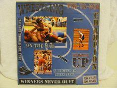 wrestling scrapbook layouts | Uploaded to Pinterest