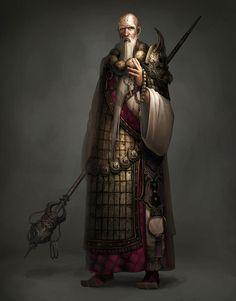 """Elf slave, wat do? • Atlantica Online concept art """"Monk"""" [Artist..."""