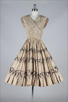 1950's Bamboo Print Dress