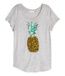$249 MXN Camiseta con lentejuelas