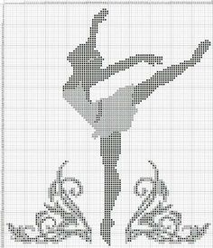 Ballerina x-stitch Cross Stitch Alphabet, Cross Stitch Charts, Cross Stitch Designs, Cross Stitch Patterns, Blackwork Embroidery, Cross Stitch Embroidery, Embroidery Patterns, Cross Stitch Silhouette, Fillet Crochet