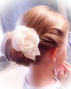 Flower girl updo/ bridal updo www.knotandveil.wordpress.com