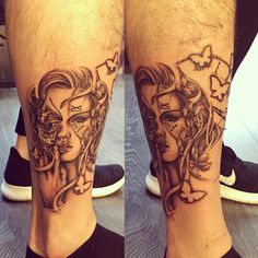A half leg sleeve I'm working on atm. Looking niiiice ☺️🦋 #tattoo #inprogress #tattoos #ink #girl #butterfly #butterflytattoo #clock #timepiecetattoo #clocktattoo #workinprogress #halfsleeve #legsleeve #ink #inked #boyswithink #boyswithtattoos #tattooartist #londontattooartist