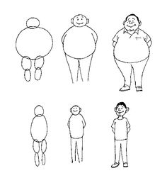 how to draw a persons body