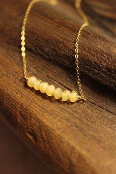 Citrine necklace | 14kt gold fill