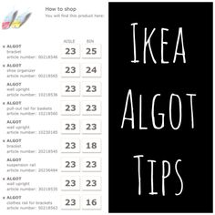 {projects} Algot shelving install