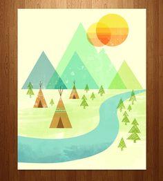 Native Lands Art Print | Art Prints & Posters | Jenny Tiffany | Scoutmob Shoppe | Product Detail