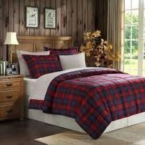 Ashland MacLachlan Plaid Down Alternative Microfiber 3 Piece Comforter Set - Red Plaid KING by Ashland. $99.98. The Ashland Bedding Comforter Set will instantly transform the look of your bedroom space. It is a red plaid comforter set that adds a dash of color for maximum attention. Filled with 6D fiber fill, it is the right alternative to down in terms of both cost and benefits it offers to allergy sufferers. It is super soft and quite a durable polyester comforter set t...