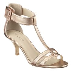 """Single sole t-strap 2.5"""" sandal with buckle closure.  This style is available exclusively @ Nine West Stores  ninewest.com."""
