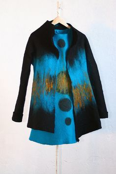 Felted coat and dress Blue!