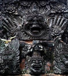 Temple Carving, Ubud, Bali ❀  Bali Floating Leaf Eco-Retreat ❀ http://balifloatingleaf.com ❀