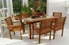 Home Design, Modern Design, Teak Outdoor Furniture, Indoor Outdoor, Outdoor Decor, Rattan, Garden Design, Patio, Contemporary