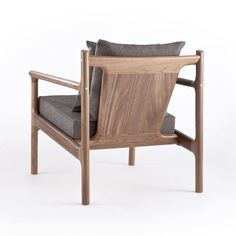 Stillwater Club Chair in walnut with brass details - looking snazzy! ✨👌 #stillwaterclubchair #rhodeislandcollection #studiodunn