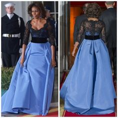 Celebrity Michelle Obama Beaded Black Lace Half Sleeves Prom Gowns Zipper Back Vestidos De Festa Long Elegant Evening Dresses Long Sleeve Evening Gowns, Women's Evening Dresses, Prom Gowns, Wedding Dresses Plus Size, Plus Size Dresses, Bride Dresses, Bridesmaid Dresses, Michelle Obama Fashion, Carolina Herrera Dresses