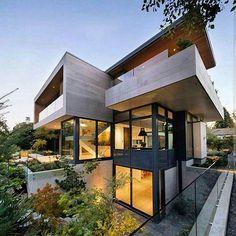 Tag your friends   #Luxury #Home  ✏ Fritz de Vries architect ✏  #Vancouver - #Canada  insta