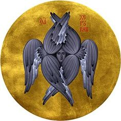 Byzantine Icon of Seraphim Byzantine Icons, Byzantine Art, Christian Symbols, Christian Art, Ancient Aliens, Ancient Art, Seraph Angel, Cherub Tattoo, Art Icon