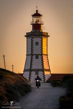 Cape Espichel Lighthouse, Setúbal, Portugal.