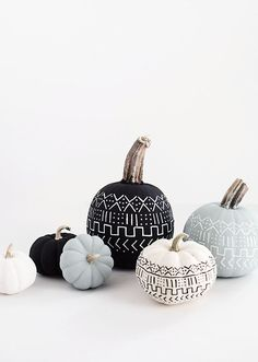 Try this mud cloth painted pumpkin from Homey Oh My