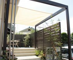 シェードセイル Garden Design, House Design, Outdoor Living, Outdoor Decor, Shade Garden, Fences, Deck, Shades, Gardening