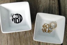 Monogram Ring Dish by OhMyWordDesigns on Etsy, $10.00