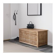 IKEA HOL storage table Solid wood, a durable natural material.
