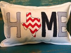 Texas HOME Pillow - what a great gift from Mominizer!