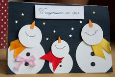 Holiday Decorations For Kids Snowman Ornaments 29 Ideas For 2019 Holiday Decorations For Kids Snowman Ornaments 29 Ideas For 2019 Christmas Activities, Christmas Crafts For Kids, Holiday Crafts, Christmas Decorations, Snowman Decorations, Homemade Christmas Cards, Christmas Tag, Handmade Christmas, Illumination Noel