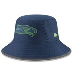 Seattle Seahawks New Era Youth 2018 Training Camp Primary Bucket Hat Navy Seattle Seahawks Hat, Nfl Seattle, Hats For Men, All Star, Adidas Originals, Bucket Hat, Baseball Hats, Navy, Training