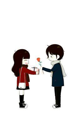 I Love you le le Love Cartoon Couple, Chibi Couple, Cute Couple Art, Anime Love Couple, Cute Anime Couples, Couple Amour Anime, Cartoon Mignon, Cute Couple Wallpaper, Cute Love Cartoons