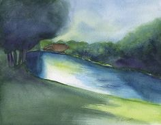 Island Lagoon By Frank Bright - Watercolor Print