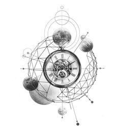 - space tattoos Ideas space tattoos Solar System … – name. Geometric Tattoo Design, Wolf Tattoo Design, Tattoo Designs, Trendy Tattoos, Small Tattoos, Tattoos For Guys, Colorful Tattoos, Body Art Tattoos, Tattoo Drawings