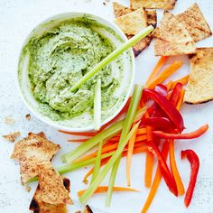 A healthier WW recipe for Basil, bean and feta dip with pita chips ready in just Get the SmartPoints value plus browse other delicious recipes today! Ww Recipes, Snack Recipes, Snacks, Healthy Dips, Healthy Recipes, Delicious Recipes, Weight Watchers Nz, Pita Chips Recipe, Feta Dip