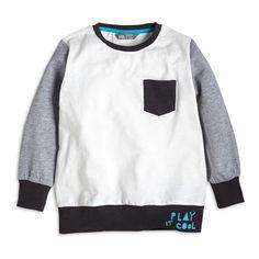Langermet t-shirt, Hvit, Gutt 92-122 cm, Barn | Lindex