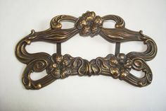 Art Nouveau Detailed Large Brass Buckle by MoltoBelle on Etsy