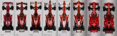 Evolution of the Ferrari F1 car