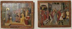 Luca di Tommè - Predica di San Paolo e San Paolo condotto al martirio - Pinacoteca Nazionale, Siena