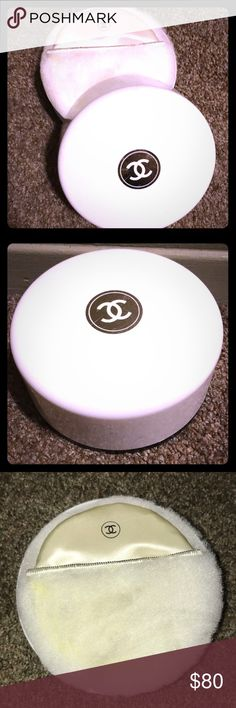 Vintage CHANEL No.5 Bath Dusting a Powder Vintage Chanel No5 bath dusting powder.  Sealed and unused. Comes in hard plastic casing 8oz. Contains original white powder puffer and powder sifter. CHANEL Makeup Face Powder