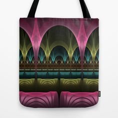 Theatre of Fantasy Fractal Tote Bag - printed Tote Bag with the Design on both Sides.