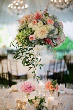 Featured Photographer: Michael & Anna Costa Photography; Wedding reception centerpiece idea.