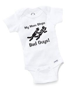 My Mom Stops Bad Guys Police Onesie Bodysuit Baby Shower Gift Funny Geek Nerd Cute Cop Officer Law Enforcement on Etsy, $8.99