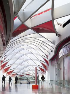 Mall, roof and public spaces at Mediacite in Liege, Belgium by Ron Arad Architects