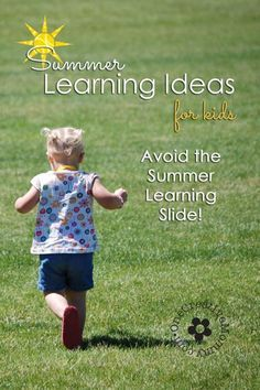 Summer Learning for Kids {Avoid the Summer Slide with ideas and links to 100+ Activities and Printables for Summer Learning!}